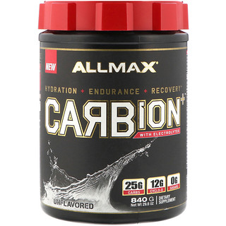 ALLMAX Nutrition, CARBion+ with Electrolytes, Unflavored, 1.85 lbs (840 g)