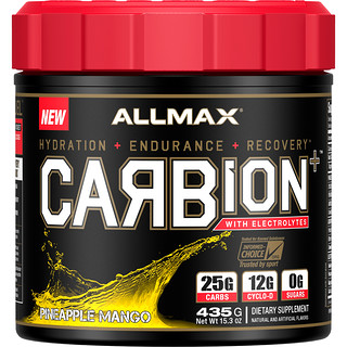 ALLMAX Nutrition, CARBion+ with Electrolytes, Pineapple Mango, 15.3 oz (435 g)