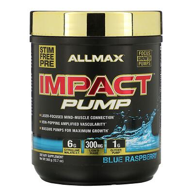 Купить ALLMAX Nutrition Impact Pump, Blue Raspberry, 12.7 oz (360 g)