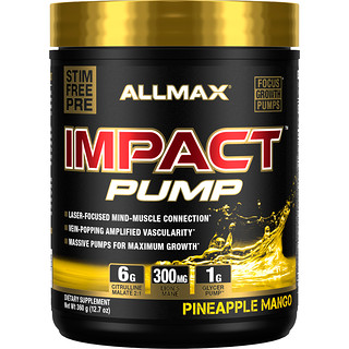 ALLMAX Nutrition, Impact Pump, Pineapple Mango, 12.7 oz (360 g)