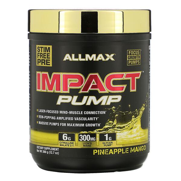 ALLMAX Nutrition, IMPACT™ 氮泵,菠萝芒果味,12.7 盎司(360 克)