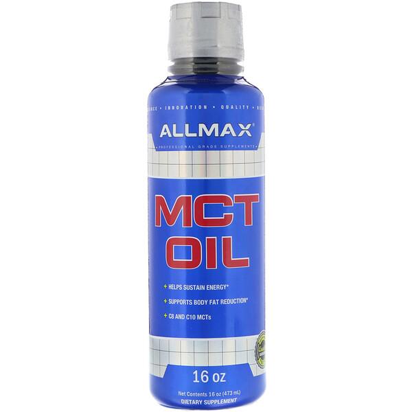 品牌從A - ZALLMAX Nutrition類別補充品節食和減重MCT油(中鏈三酸甘油酯):ALLMAX Nutrition, MCT Oil, 16 fl oz (473 ml)