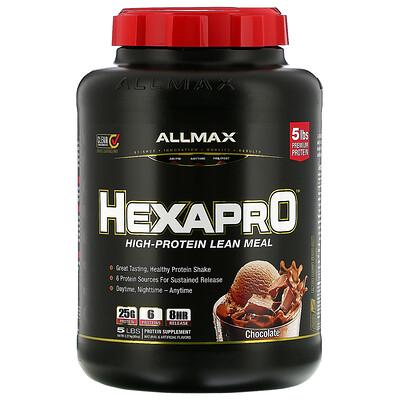Купить ALLMAX Nutrition Hexapro, смесь из 6 протеинов ультрапремиального качества, шоколад, 2, 27кг (5фунтов)