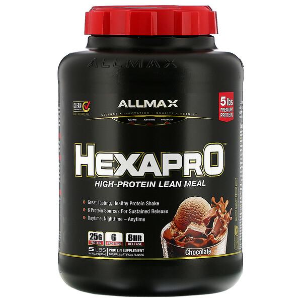 Hexapro, Ultra-Premium 6-Protein Blend, Chocolate, 5 lbs (2.27 kg)