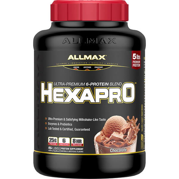 Hexapro, Ultra-Premium 6-Protein Blend, Chocolate, 5 lbs (2.27 kg)