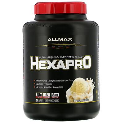 Купить ALLMAX Nutrition Hexapro, смесь из 6протеинов ультрапремиального качества, французская ваниль, 2, 27кг (5фунтов)