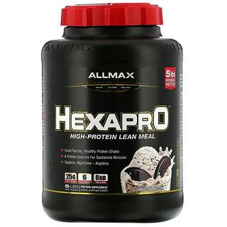 ALLMAX Nutrition, Hexapro, High-Protein Lean Meal, Cookies & Cream, 5 lbs (2.27 kg)