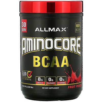 Купить ALLMAX Nutrition AMINOCORE BCAA, Fruit Punch, 0.69 lbs (315 g)