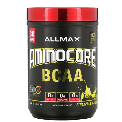 ALLMAX Nutrition AMINOCORE BCAA, Pineapple Mango, 0.69 lbs (315 g)  - купить со скидкой