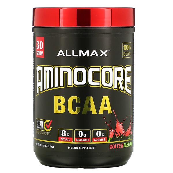 AMINOCORE 系列支鏈氨基酸,西瓜味,0.69 磅(315 克)