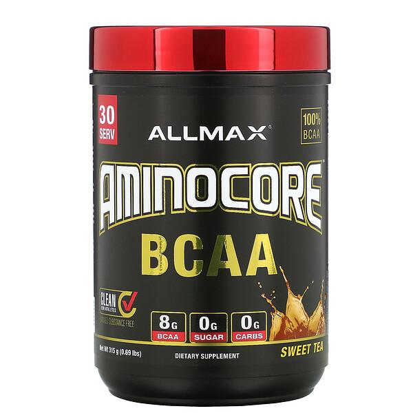 ALLMAX Nutrition, AMINOCORE BCAA, Sweet Tea, 0.69 lbs (315 g)
