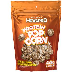 Оллмакс Нутришн, HEXAPRO Protein Popcorn, Chocolate Peanut Butter, 7.76 oz (220 g) отзывы