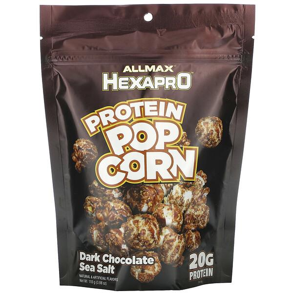 HEXAPRO Protein Popcorn, Dark Chocolate Sea Salt, 3.88 oz (110 g)
