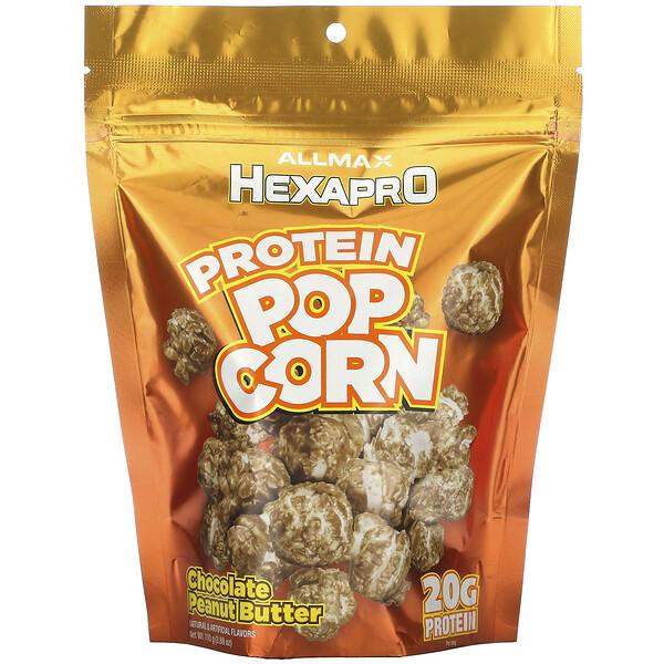 ALLMAX Nutrition, HEXAPRO Protein Popcorn, Chocolate Peanut Butter, 3.88 oz (110 g)