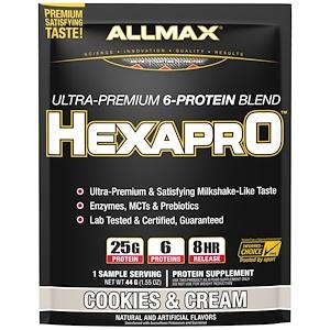 Оллмакс Нутришн, Hexapro, Ultra-Premium, 6-Protein Blend, Cookies & Cream , 1 Sample Serving, 1.55 oz (44 g) отзывы
