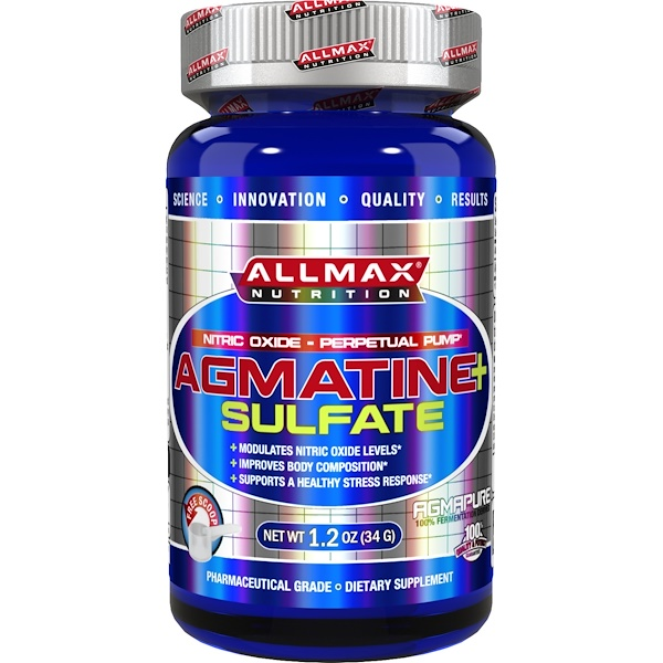 ALLMAX Nutrition, Agmatine+ Sulfate, 1.2 oz (34 g) (Discontinued Item)
