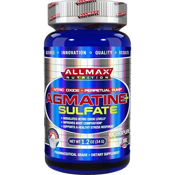 ALLMAX Nutrition, アグマチン+ 硫酸塩、 1.2 oz (34 g) (Discontinued Item)