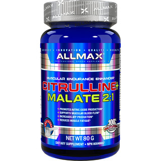 ALLMAX Nutrition, Citrulline+ Malate 2:1, 2000 mg, 80 g