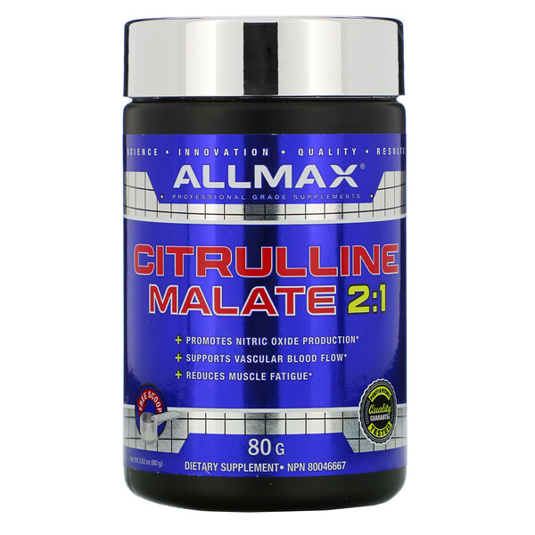 ALLMAX Nutrition, Цитруллина малат, без ароматизаторов, 80 г (Discontinued Item)