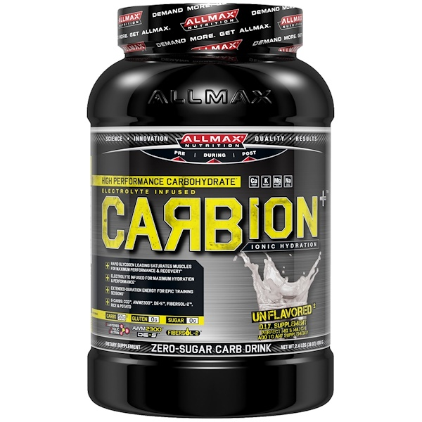ALLMAX Nutrition, CARBion+, Maximum Strength Electrolyte + Hydration Energy Drink, Unflavored, 2.4 lbs (1080 g) (Discontinued Item)