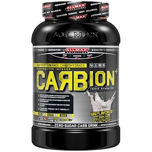 Оллмакс Нутришн, CARBion+, Maximum Strength Electrolyte + Hydration Energy Drink, Unflavored, 2.4 lbs (1080 g) отзывы