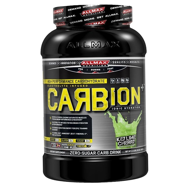 ALLMAX Nutrition, CARBion+, Maximum Strength Electrolyte + Hydration Energy Drink, Key Lime Cherry, 2.4 lbs. (1080 g) (Discontinued Item)