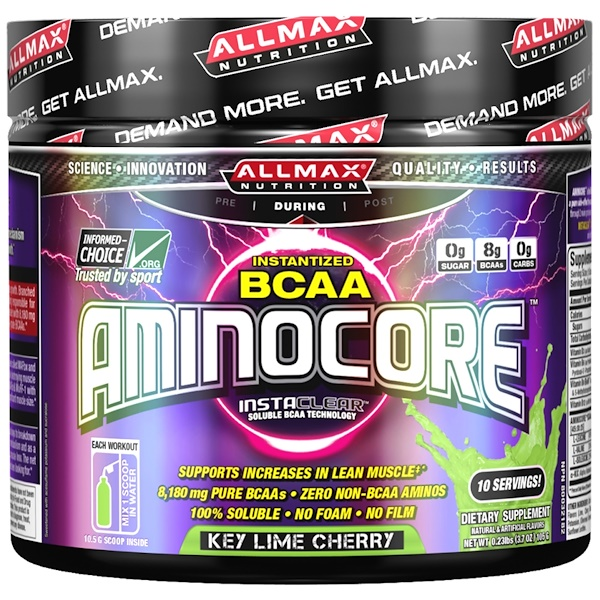 ALLMAX Nutrition, Aminocore, Instantized BCAA, InstaClear, Key Lime Cherry, 3.7 oz (105 g) (Discontinued Item)