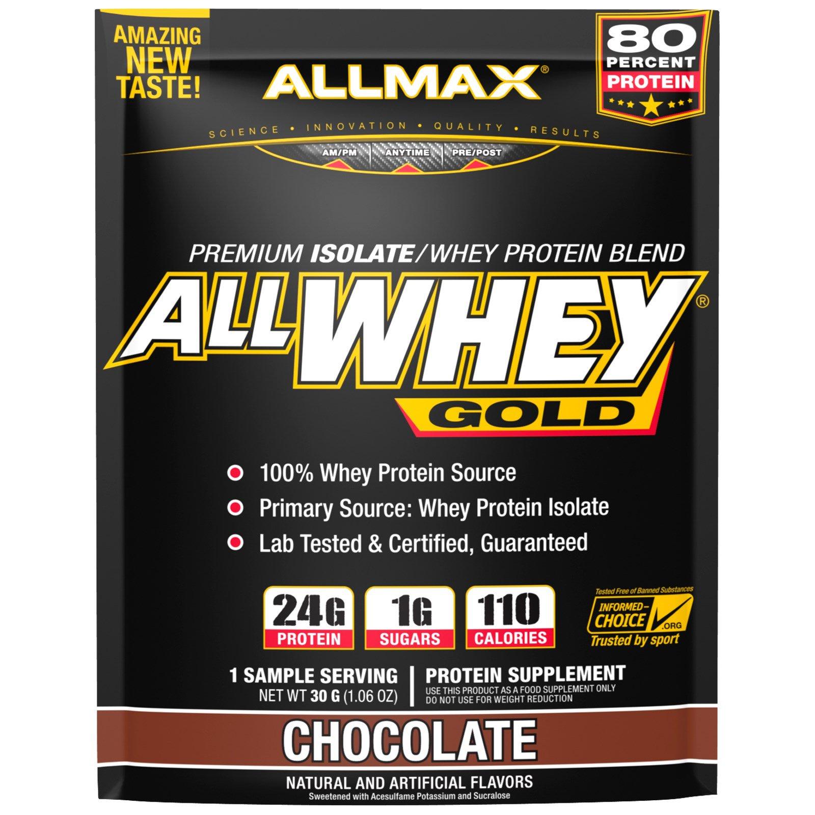 ALLMAX Nutrition, AllWhey Gold, 100% Whey Protein + Premium Whey Protein Isolate, Chocolate