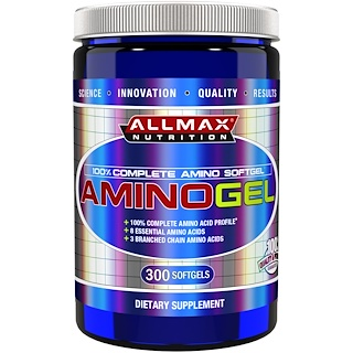 ALLMAX Nutrition, AminoGel, 100% Complete Amino Softgel, 300 Softgels