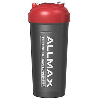 ALLMAX Nutrition, Leak-Proof Shaker, BPA-FREE Bottle with Vortex Mixer, 25 oz (700 ml)