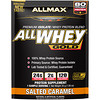 ALLMAX Nutrition, AllWhey Gold، بروتين مصل اللبن 100٪ + بروتين مصل اللبن الممتاز المعزول، كراميل مملح، 1.06 أوقية (30 غرام)