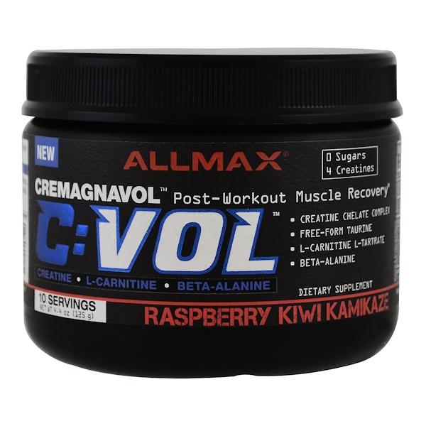 ALLMAX Nutrition, C:VOL, Cremagnavol, Raspberry Kiwi Kamikaze, 4.4 oz (125 g) (Discontinued Item)