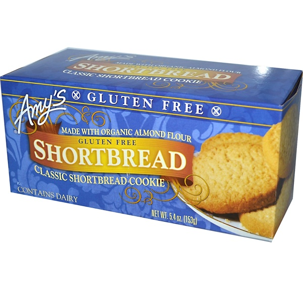 Amy's, Gluten Free, Classic Shortbread Cookie, 5.4 oz (153 g) (Discontinued Item)
