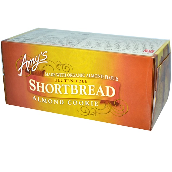 Amy's, Gluten Free Shortbread, Almond Cookie, 5.4 oz (153 g) (Discontinued Item)