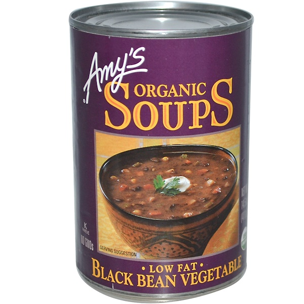 Amy's, Organic Soups, Low Fat Black Bean Vegetable, 14.5 oz (411 g) (Discontinued Item)