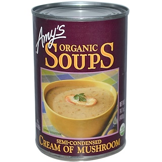 Amy's, Organic Soups, Cream of Mushroom, 14.1 oz (400 g)