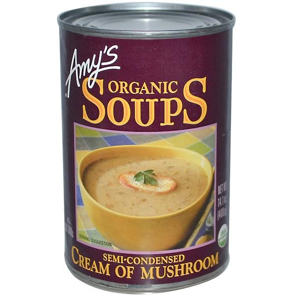 Amy's, حساء عضوي، كريمة الفطر، 14.1 أونصة (400 غ) (Discontinued Item)