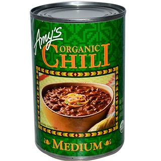 Amy's, Chili Orgánico, Medio, 14.7 oz (416 g)