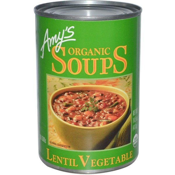 Amy's, Organic Soups, Lentil Vegetable, 14.5 oz (411 g)