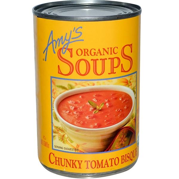 Amy's, حساء عضوي، بيسك الطماطم الكثيفة، 14.5 أونصة، (411 غ)