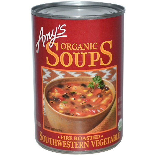 Amy's, Organic Soups, Fire Roasted, Southwestern Vegetable, 14.3 oz (405 g) (Discontinued Item)