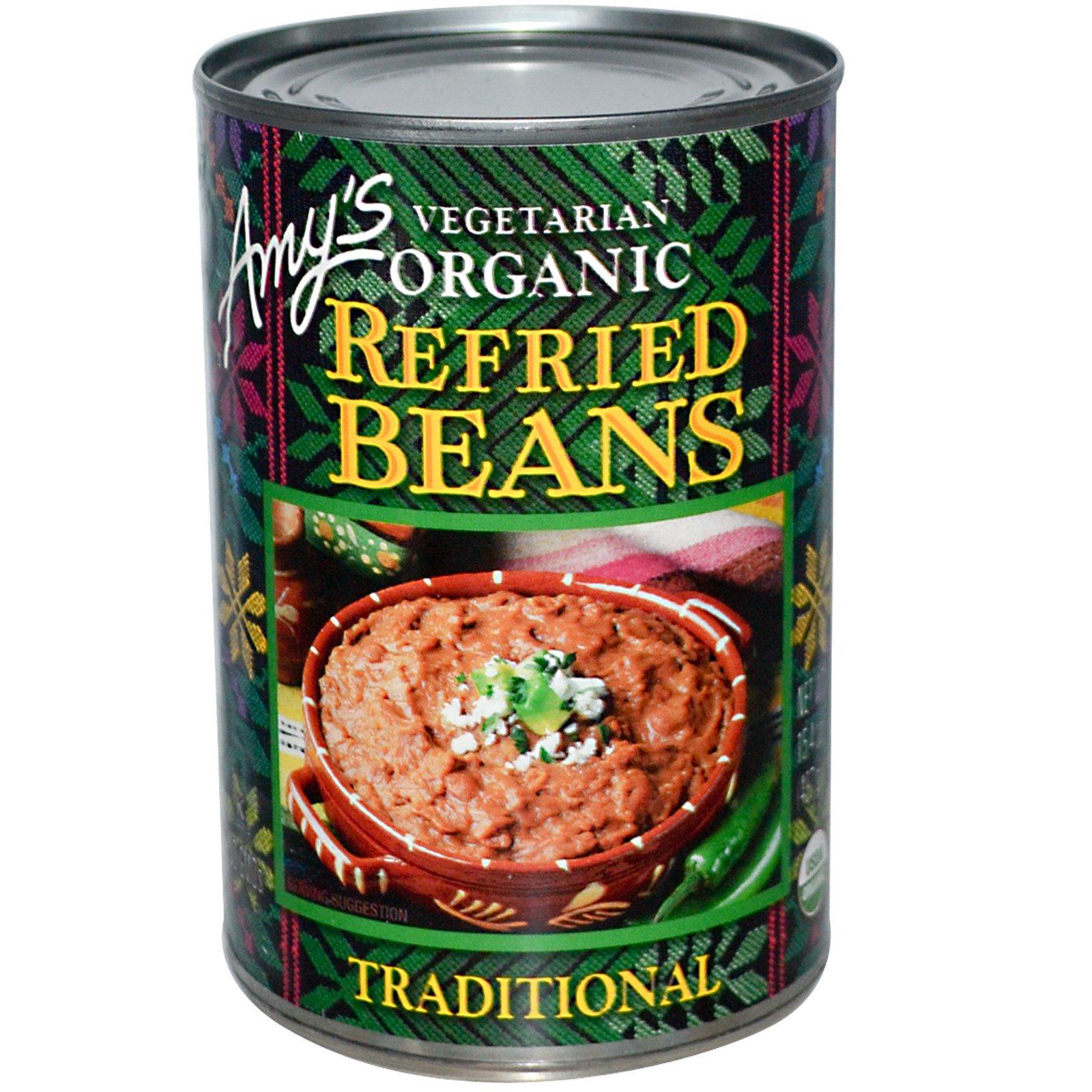 Amy\'s, Frijoles refritos vegetarianos orgánicos, tradicional, 15,4 ...