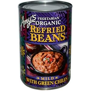 Амис, Vegetarian Organic Refried Beans with Green Chiles, Mild, 15.4 oz (437 g) отзывы покупателей