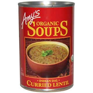 Amy's, Sopas, Curry de lentejas, Dal Indio, 14.5 oz (411 g)