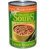 Amy's, オーガニックスープ, レンズ・ベジタブル, 塩分控えめ, 14.5 オンス (411 g)