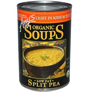 Amy's, Organic Soups, Split Pea, Low Fat, Light in Sodium, 14.1 oz (400 g)