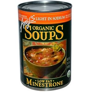 Амис, Organic Soups, Low Fat Minestrone, Light in Sodium, 14.1 oz (400 g) отзывы