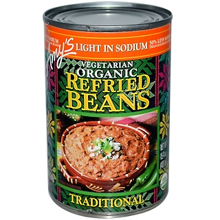 Amy's, Organic, Refried Beans, Traditional, Vegetarian, Light in Sodium, 15.4 oz (437 g)