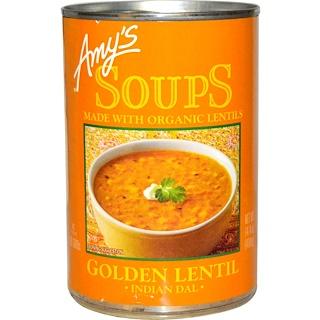 Amy's, Organic Soups, Golden Lentil, Indian Dal, 14.4 oz (408 g)