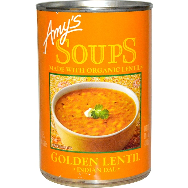 Amy's, Organic Soups, Golden Lentil, Indian Dal, 14.4 oz (408 g)